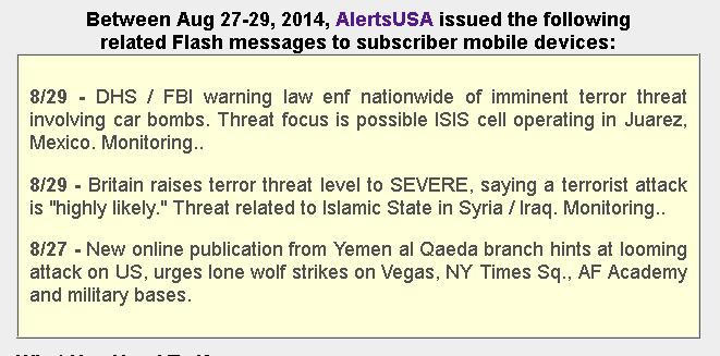 Threat Journal - Alerts USA