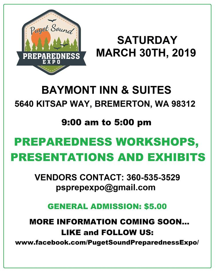 NW Preparedness & Puget Sound Expo Events! (WA STATE) - AmRRON